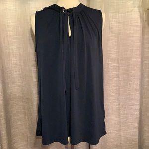 Joe Fresh navy sleeveless blouse